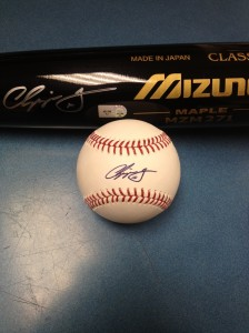 Chipper Jones Autographed Bat & Baseball