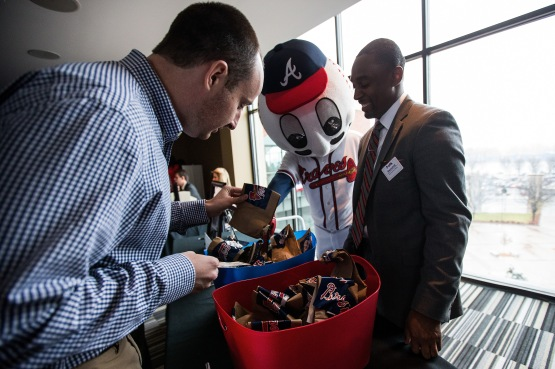 The Silent Auction raised $16,095 for the Atlanta Braves Foundation