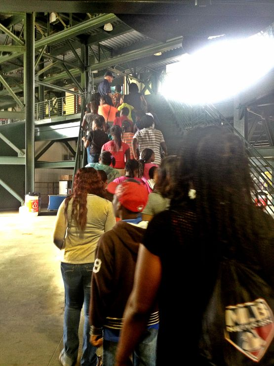 5th Graders from D.H. Stanton Elementary tour Turner Field
