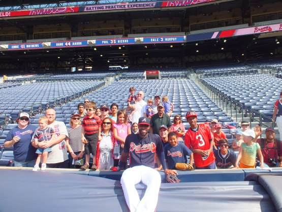 Jason Heyward with the Cobb County Foster & Adoptive Parents Association