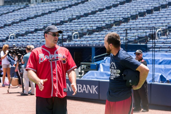 ATLANTA, GA - MAY 29:  on Friday May 29, 2015 the Atlanta Braves hosted the Wounded Warrior Project at Turner Field for batting practice. (Patrick Duffy/Atlanta Braves/Getty Images) *** Local Caption ***