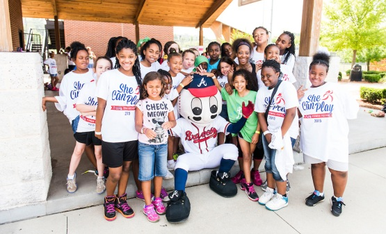 ATLANTA, GA - June 10: She Can Play on Wednesday June 10, 2015 the Atlanta Braves hosted She Can Play. (Patrick Duffy/Atlanta Braves/Getty Images) *** Local Caption ***