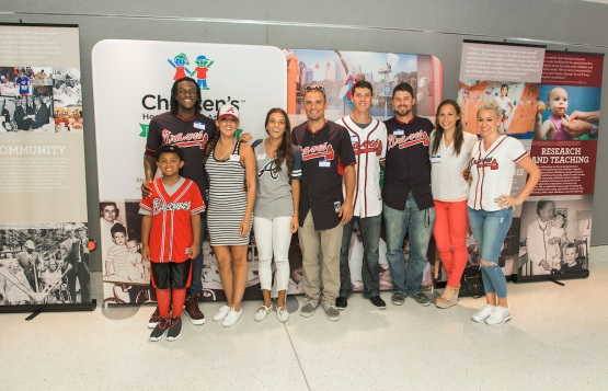 ATLANTA, GA - July 21: On Tuesday July 21, 2015 the Atlanta Braves hosted Christmas in July. (Pouya Dianat/Atlanta Braves/Getty Images) *** Local Caption *** Ryan Lavarnway;Cameron Maybin;Jace Peterson;Matt Wisler