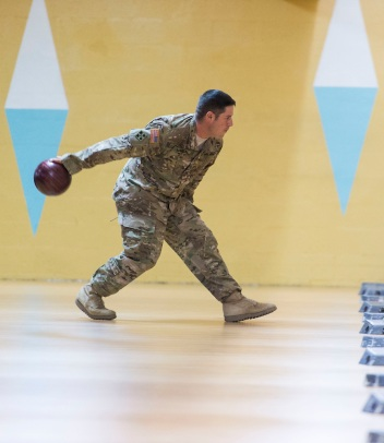 ATLANTA, GA - December 05: The Atlanta Braves hosted the Braves Holiday Military Event at Midtown Bowl on December 05, 2015 in Atlanta, Georgia. (Photo by Isaac Green/Pouya Creative/Atlanta Braves) *** Local Caption ***