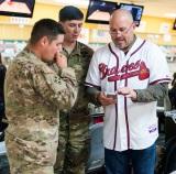 ATLANTA, GA - December 05: The Atlanta Braves hosted the Braves Holiday Military Event at Midtown Bowl on December 05, 2015 in Atlanta, Georgia. (Photo by Isaac Green/Pouya Creative/Atlanta Braves) *** Local Caption ***