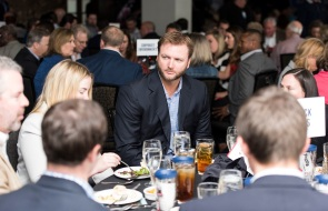ATLANTA, GA - April 06: Leadoff Luncheon at Turner Field on April 06, 2016 in Atlanta, Georgia. (Photo by Isaac Green/Beam/Atlanta Braves) *** Local Caption *** A.J. Pierzynski