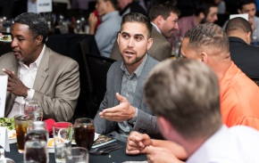 ATLANTA, GA - April 06: Leadoff Luncheon at Turner Field on April 06, 2016 in Atlanta, Georgia. (Photo by Isaac Green/Beam/Atlanta Braves) *** Local Caption *** Ender Inciarte