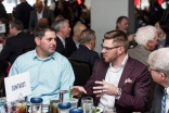 ATLANTA, GA - April 06: Leadoff Luncheon at Turner Field on April 06, 2016 in Atlanta, Georgia. (Photo by Isaac Green/Beam/Atlanta Braves) *** Local Caption *** Freddie Freeman