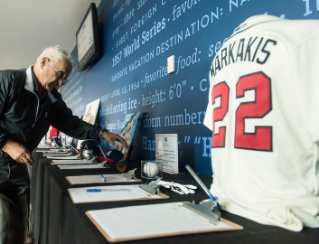 ATLANTA, GA - April 06: Leadoff Luncheon at Turner Field on April 06, 2016 in Atlanta, Georgia. (Photo by Isaac Green/Beam/Atlanta Braves) *** Local Caption ***