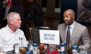 ATLANTA, GA - April 06: Leadoff Luncheon at Turner Field on April 06, 2016 in Atlanta, Georgia. (Photo by Isaac Green/Beam/Atlanta Braves) *** Local Caption *** Bo Porter