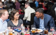 ATLANTA, GA - April 06: Leadoff Luncheon at Turner Field on April 06, 2016 in Atlanta, Georgia. (Photo by Isaac Green/Beam/Atlanta Braves) *** Local Caption *** Alexi Ogando