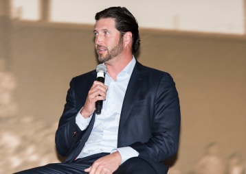 ATLANTA, GA - April 06: Leadoff Luncheon at Turner Field on April 06, 2016 in Atlanta, Georgia. (Photo by Isaac Green/Beam/Atlanta Braves) *** Local Caption *** Jason Grilli