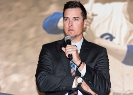 ATLANTA, GA - April 06: Leadoff Luncheon at Turner Field on April 06, 2016 in Atlanta, Georgia. (Photo by Isaac Green/Beam/Atlanta Braves) *** Local Caption *** Kelly Johnson