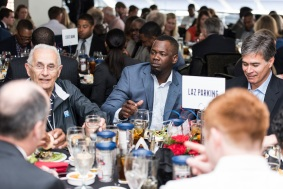 ATLANTA, GA - April 06: Leadoff Luncheon at Turner Field on April 06, 2016 in Atlanta, Georgia. (Photo by Isaac Green/Beam/Atlanta Braves) *** Local Caption *** Adonis Garcia