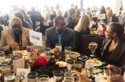 ATLANTA, GA - April 06: Leadoff Luncheon at Turner Field on April 06, 2016 in Atlanta, Georgia. (Photo by Isaac Green/Beam/Atlanta Braves) *** Local Caption *** Julio Teheran
