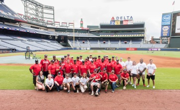 ATLANTA, GA - May 19: Wounded Warrior Classic at Turner Field on May 19, 2016 in Atlanta, Georgia. (Photo by Isaac Green/Beam/Atlanta Braves/Getty Images) *** Local Caption ***