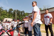 ATLANTA, GA - May 25: Surprise Bike Giveaway at Argyle Elementary on May 25, 2016 in Atlanta, Georgia. (Photo by Isaac Green/Beam/Atlanta Braves/Getty Images) *** Local Caption *** Reid Brignac;Daniel Castro