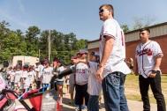 ATLANTA, GA - May 25: Surprise Bike Giveaway at Argyle Elementary on May 25, 2016 in Atlanta, Georgia. (Photo by Isaac Green/Beam/Atlanta Braves/Getty Images) *** Local Caption *** Reid Brignac;Daniel Castro
