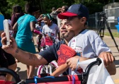 ATLANTA, GA - May 25: Surprise Bike Giveaway at Argyle Elementary on May 25, 2016 in Atlanta, Georgia. (Photo by Isaac Green/Beam/Atlanta Braves/Getty Images) *** Local Caption ***