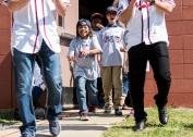 ATLANTA, GA - May 25: Surprise Bike Giveaway at Argyle Elementary on May 25, 2016 in Atlanta, Georgia. (Photo by Isaac Green/Beam/Atlanta Braves/Getty Images) *** Local Caption ***