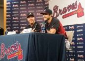 ATLANTA, GA - May 29: Kids Press Conference at Turner Field on May 29, 2016 in Atlanta, Georgia. (Photo by Isaac Green/Beam/Atlanta Braves/Getty Images) *** Local Caption ***