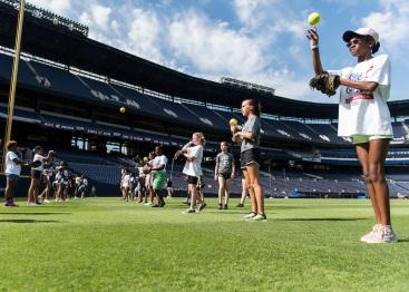 ATLANTA, GA - June 10: She can Play at Turner Field on June 10, 2016 in Atlanta, Georgia. (Photo by Isaac Green/Beam/Atlanta Braves/Getty Images) *** Local Caption ***