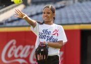 ATLANTA, GA - June 10: She can Play at Turner Field on June 10, 2016 in Atlanta, Georgia. (Photo by Isaac Green/Beam/Atlanta Braves/Getty Images) *** Local Caption ***