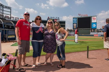 ATLANTA, GA - JUNE 13: Field guests pose for a photo before the game against the Cincinnati Reds at Turner Field on June 13, 2016 in Atlanta, Georgia. The Reds won 9-8. (Photo by Kyle Hess/Beam/Atlanta Braves/Getty Images) *** Local Caption ***