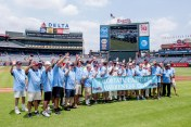 ATLANTA, GA - JUNE 26: On field presentation with prostate cancer awareness group before the game between the Atlanta Braves against the New York Mets at Turner Field on June 26, 2016 in Atlanta, Georgia. The Braves won 5-2. (Photo by Kyle Hess/Beam/Atlanta Braves/Getty Images) *** Local Caption ***