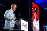 ATLANTA, GA - AUGUST 19: The Atlanta Braves hosted Braves the annual Hall of Fame Luncheon on August 19, 2016 in Atlanta, Georgia. (Photo by Patrick Duffy/Beam/Atlanta Braves/Getty Images) *** Local Caption *** Chipper Jones
