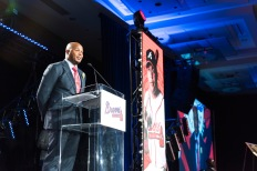 ATLANTA, GA - AUGUST 19: The Atlanta Braves hosted Braves the annual Hall of Fame Luncheon on August 19, 2016 in Atlanta, Georgia. (Photo by Patrick Duffy/Beam/Atlanta Braves/Getty Images) *** Local Caption *** Andruw Jones
